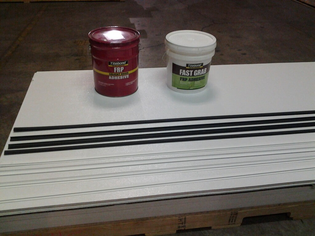Desert Building Materials - White Frp Panels, Black & White Frp Trims, and Frp Adhesive